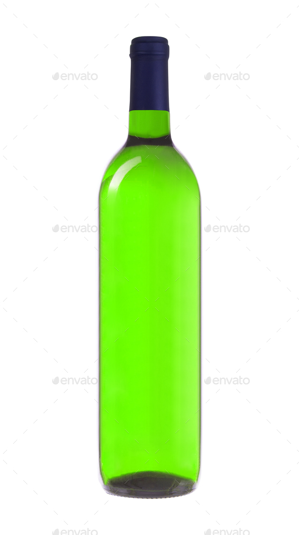 Green Wine Bottle isolated - Stock Photo - Images
