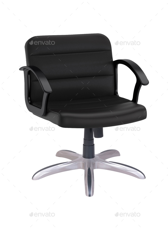Black Office Chair isolated - Stock Photo - Images