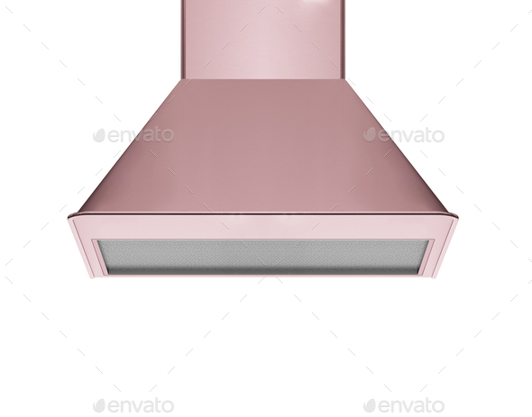hood, modern extractor - Stock Photo - Images