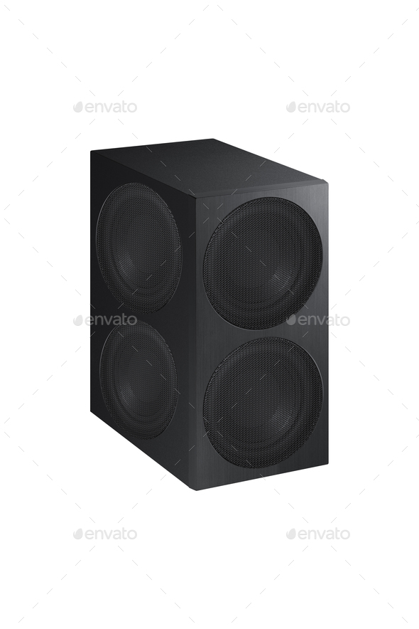 Audio speaker on white background - Stock Photo - Images