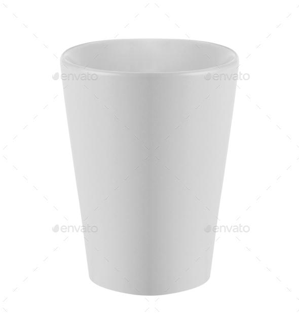 White Mug Isolated - Stock Photo - Images