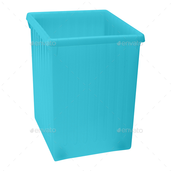 blue plastic box - Stock Photo - Images