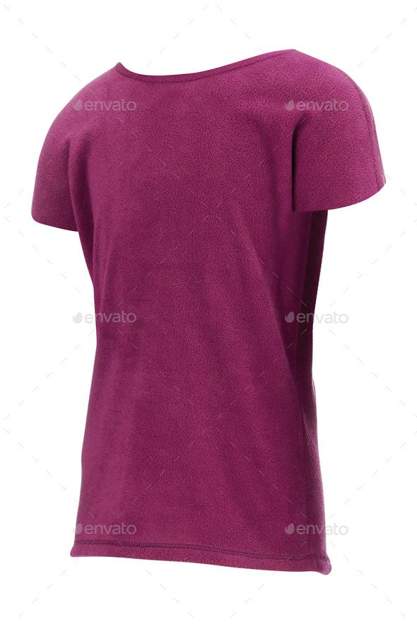 purple shirt isolated on white - Stock Photo - Images