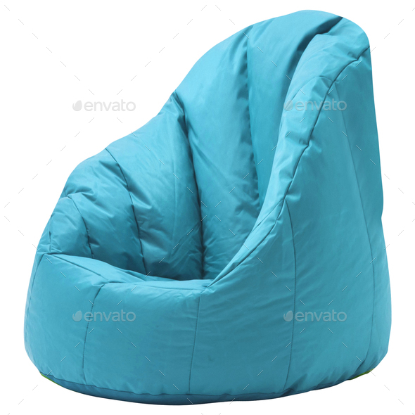 beanbag isolated on white - Stock Photo - Images
