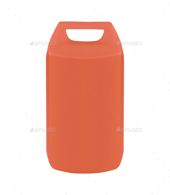 plastic jerrycan isolated - Stock Photo - Images