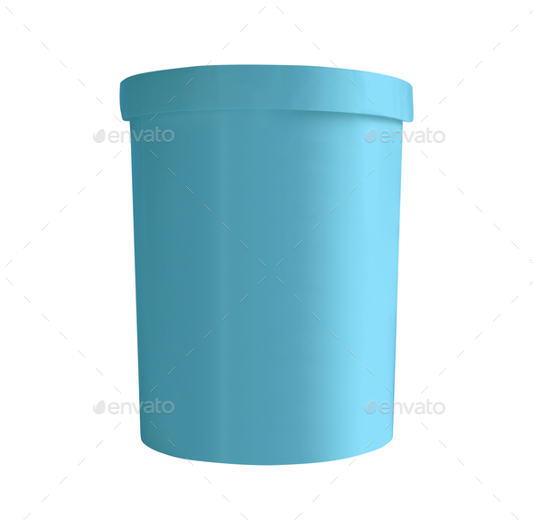 Blue bucket isolated on white - Stock Photo - Images