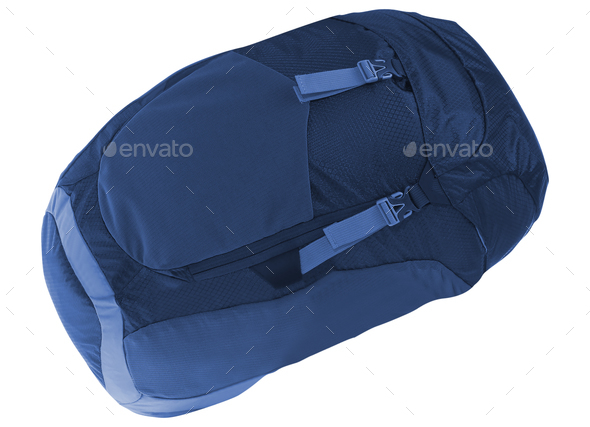 Blue backpack isolated - Stock Photo - Images