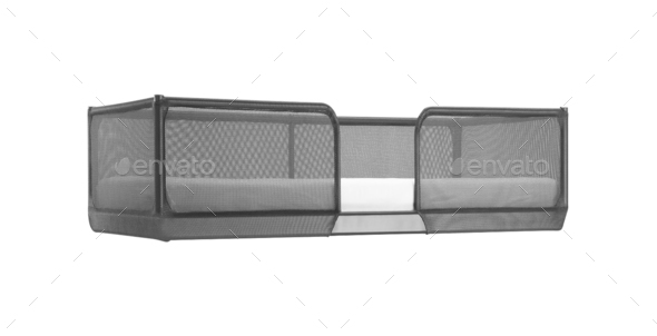 White bed isolated on white background - Stock Photo - Images