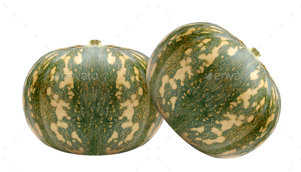Ripe and juicy water melon isolated on white - Stock Photo - Images
