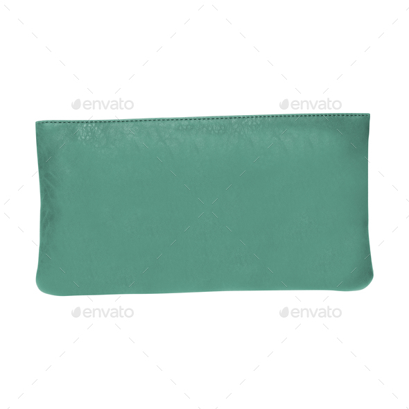 clutch bag isolated on white - Stock Photo - Images