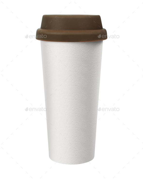 Cup of coffee isolated - Stock Photo - Images