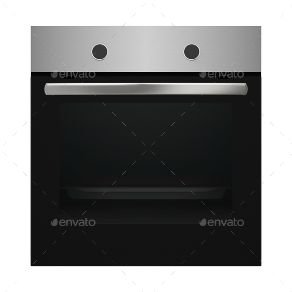 Modern Dark Oven - Stock Photo - Images