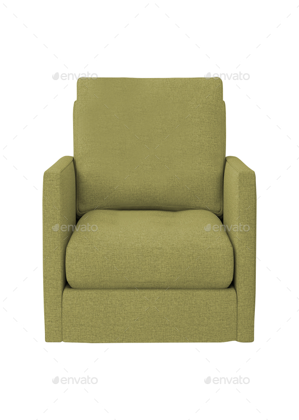 green modern armchair isolated - Stock Photo - Images