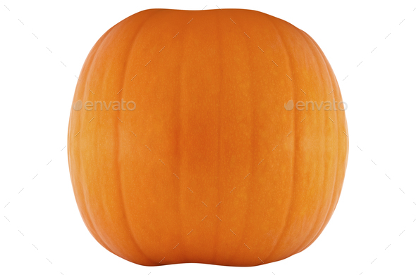 fresh pumpkin isolated - Stock Photo - Images