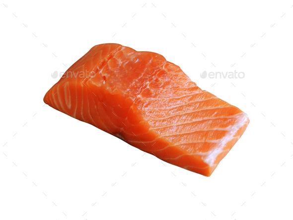 saumon fish filet - Stock Photo - Images