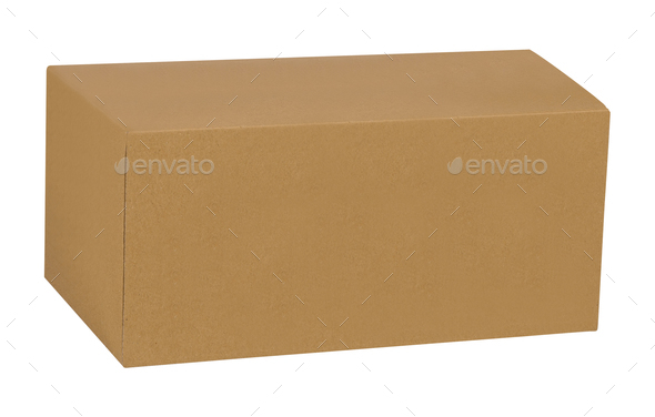 cardboard box isolated on white background - Stock Photo - Images