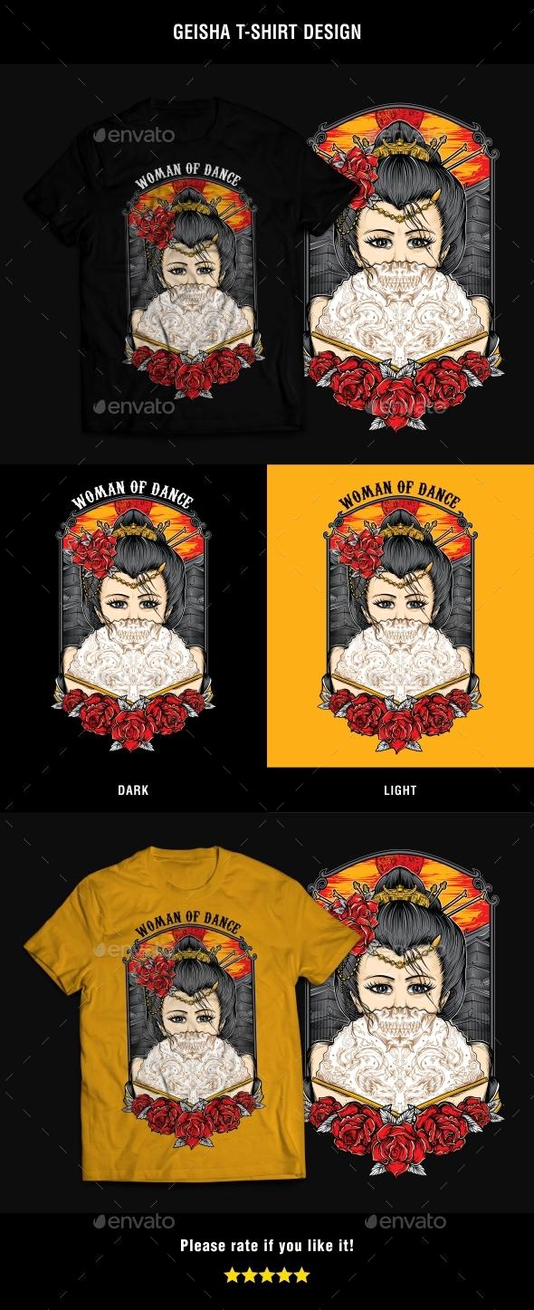 Geisha T-Shirt Design - T-Shirts