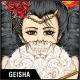 Geisha T-Shirt Design - GraphicRiver Item for Sale
