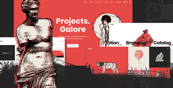 Haar - A Portfolio Theme for Designers, Artists and Illustrators - Portfolio Creative