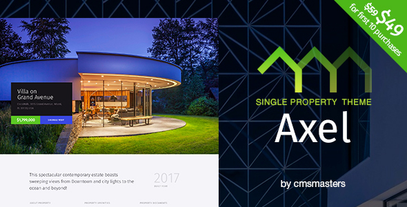 Axel - Single Property Real Estate Theme