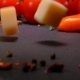 Cubes of Parmesan Cheese Fall To the Surface of the Table - VideoHive Item for Sale