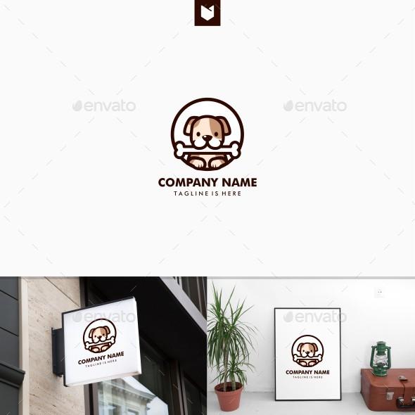 Dog Bone Logo Badges - Animals Logo Templates