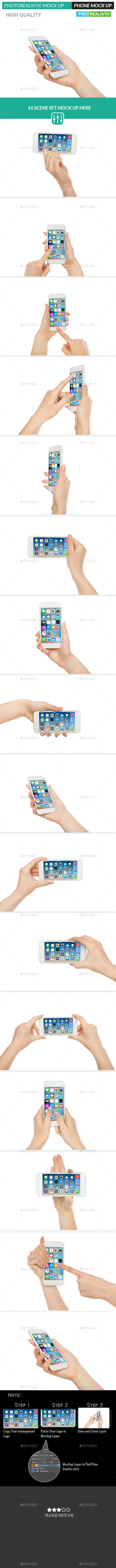 Mobile Phone Realistic Mock Up - Product Mock Up - Mobile Displays