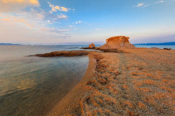 Ierissos-Kakoudia beach, Greece - Stock Photo - Images