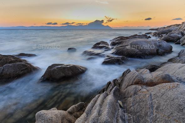 Karidi beach. Sithonia, Greece - Stock Photo - Images