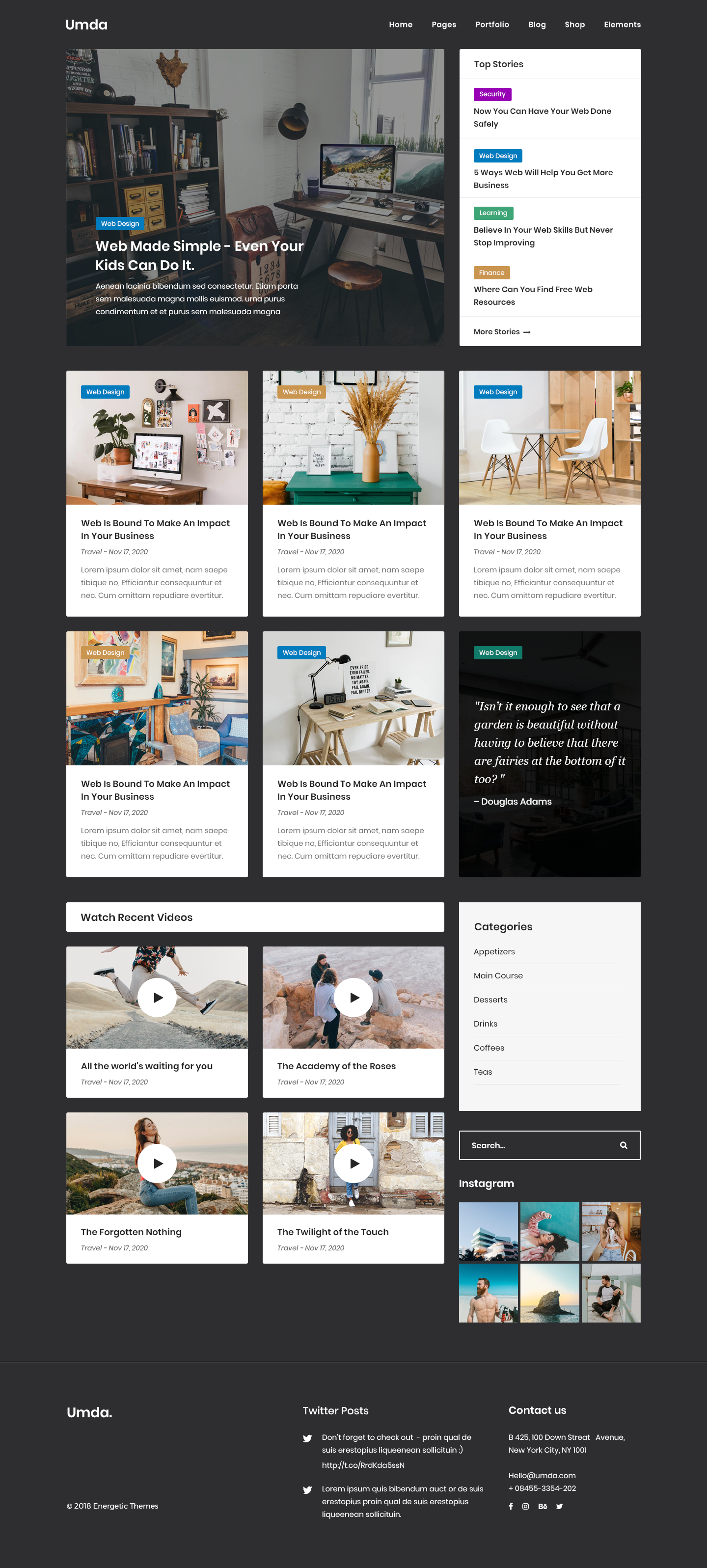 Umda - Innovative Multipurpose Creative Template by energeticthemes