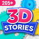 3D STORIES | Icons Explainer Toolkit - VideoHive Item for Sale