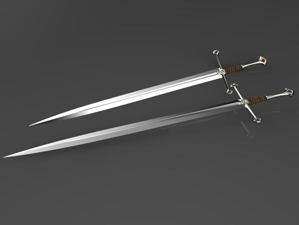 Anduril king Aragon`s  sword - 3DOcean Item for Sale