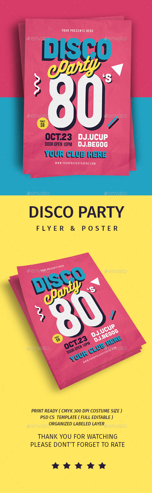 Disco Party Flyer - Flyers Print Templates