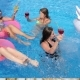 Party in Pool Luxurious Life of Friends with Colored Cocktails Swim on Inflatable Rings Into - VideoHive Item for Sale