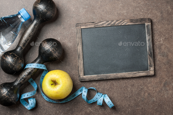 Fitness, healthy lifestyle background - Stock Photo - Images