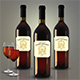 Bottle and Glass Wine Mockup - GraphicRiver Item for Sale