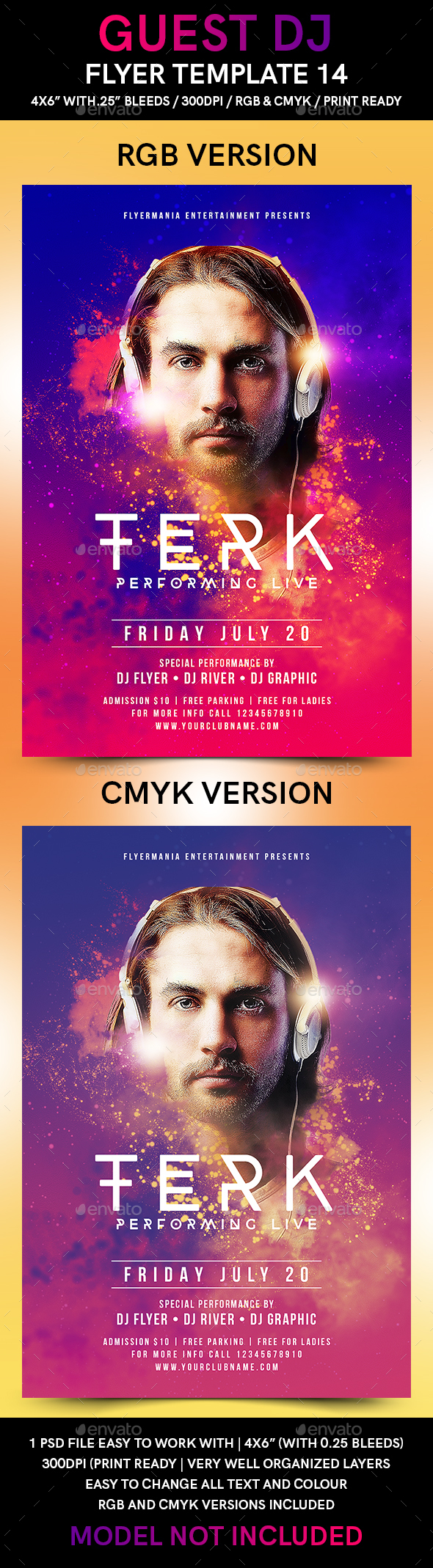 Guest DJ Flyer Template 14 - Flyers Print Templates