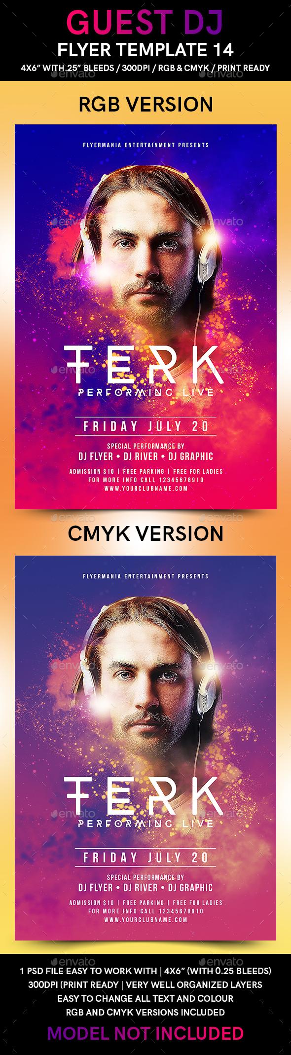 Guest DJ Flyer Template 14 - Flyers Print Templates