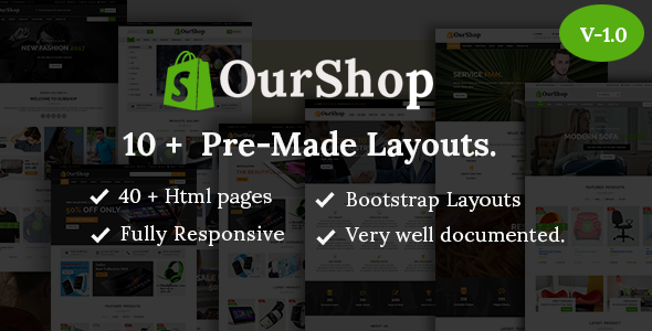 Image of Ourshop - Multipurpose eCommerce Bootstrap Template.