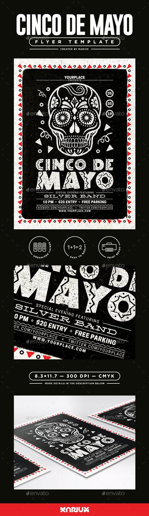 Cinco de Mayo Flyer/Poster - Events Flyers