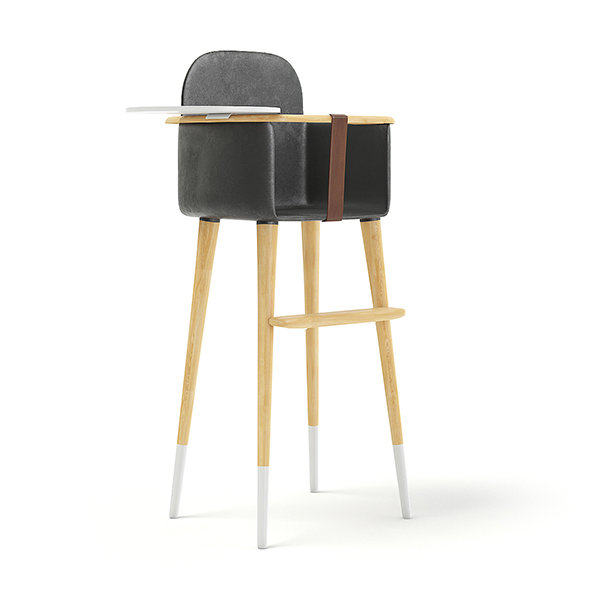 Feeding Chair with Black Seat - 3DOcean Item for Sale
