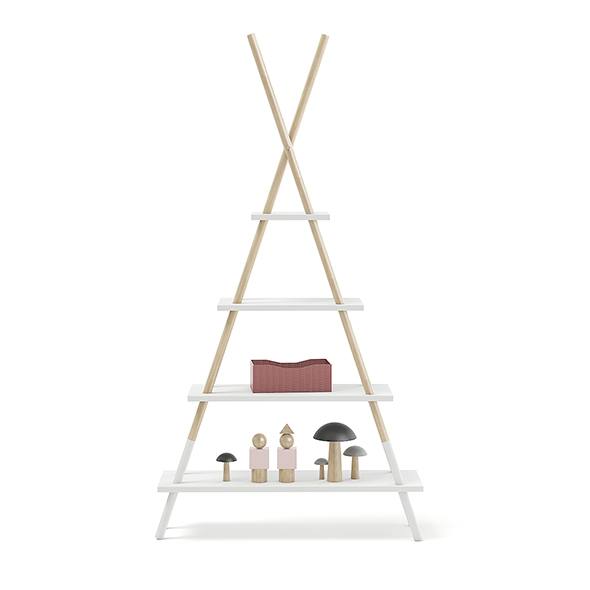 Teepee Shape Shelf with Decorations - 3DOcean Item for Sale