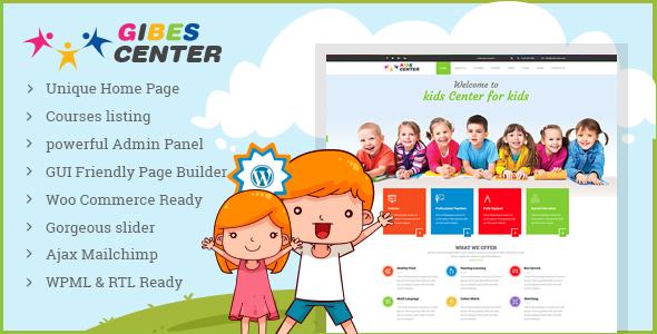 Image of Gibes - Kids Education Center WordPress Theme