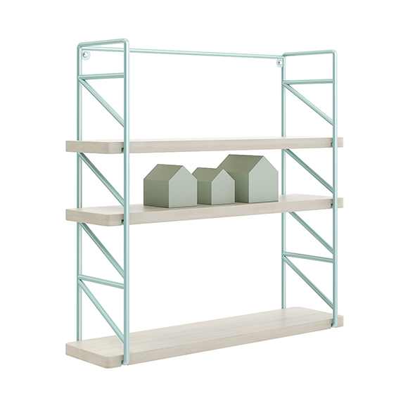 Wall Shelf with House Shape Blocks - 3DOcean Item for Sale