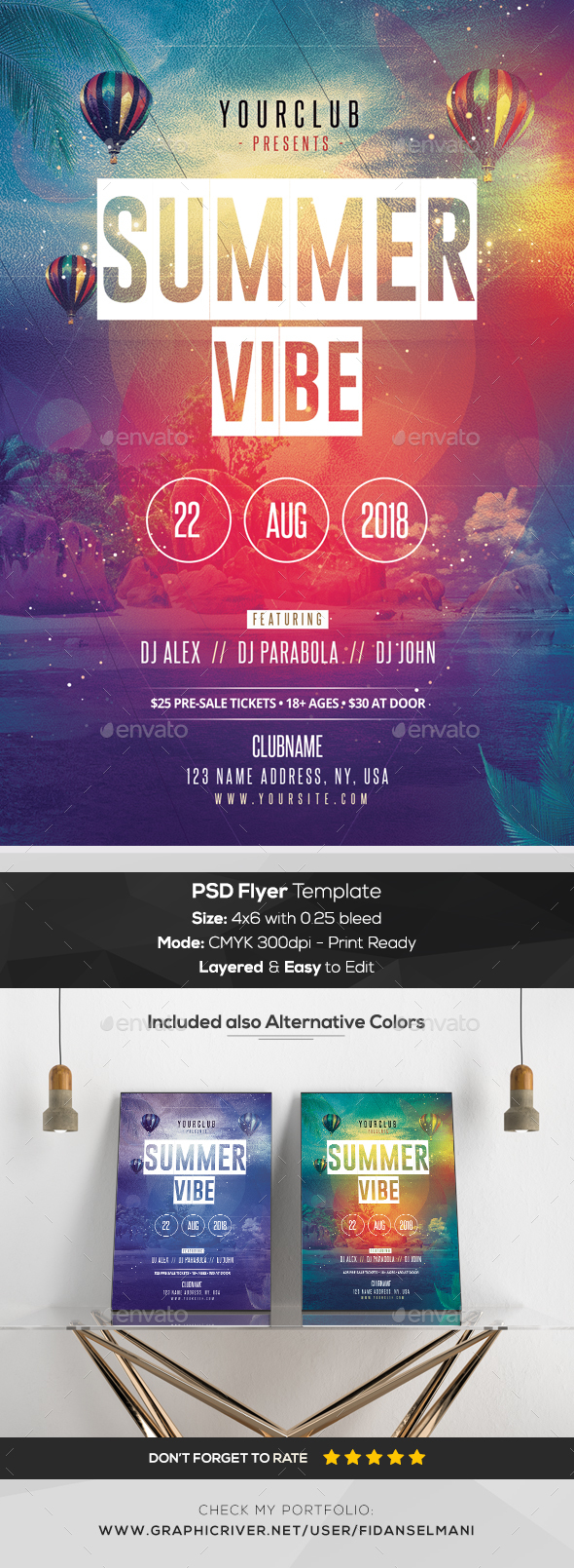 Summer Vibe - PSD Flyer - Events Flyers