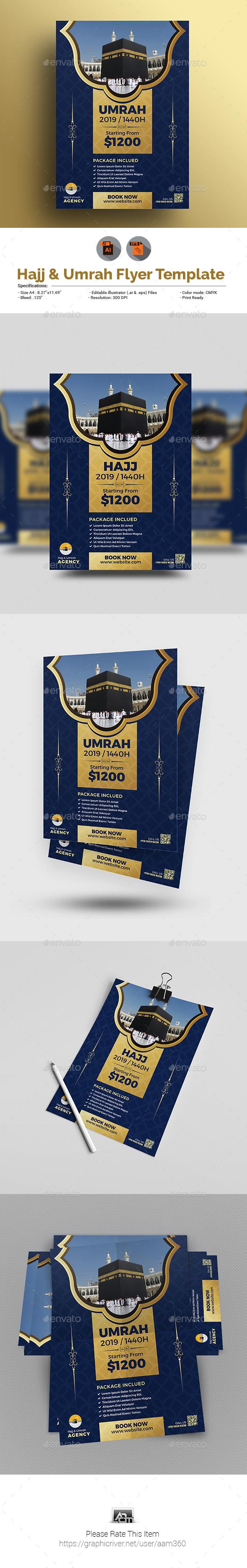Umrah & Hajj Flyer Template - Commerce Flyers