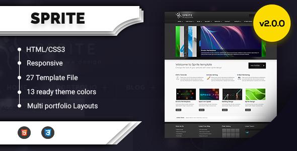 Free Download Sprite Theme Portfolio & Business HTML Nulled Latest Version