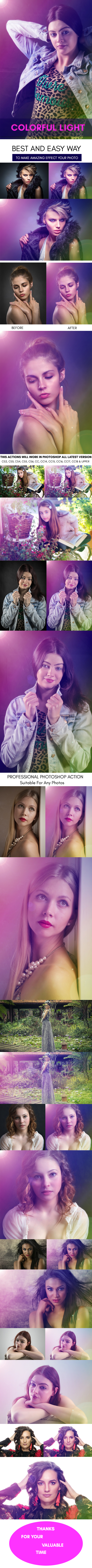 Colorful Light :: Photoshop Action - Photo Effects Actions