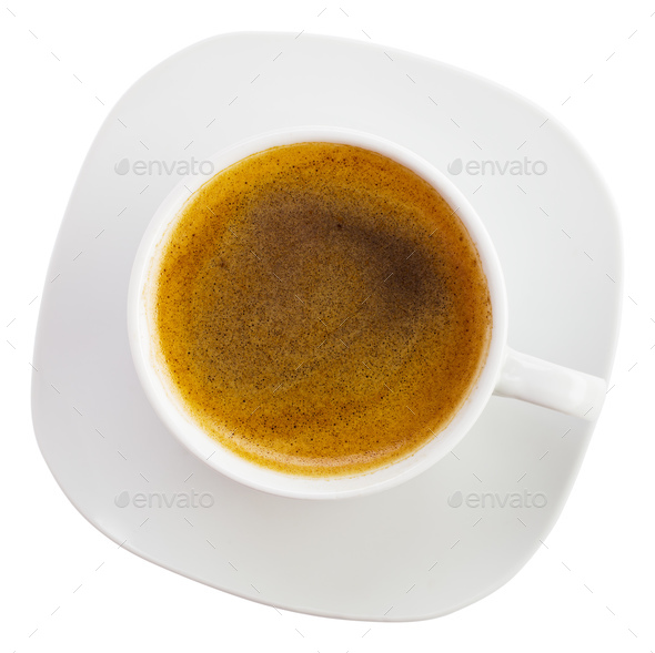 Black coffee cup above - Stock Photo - Images
