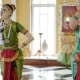 Two Attractive Girls in a Sari Dance a National Dance - VideoHive Item for Sale